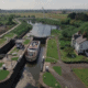 the ring aerial shot social media square canal