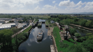 aerial shot the ring canal and river trust social media film